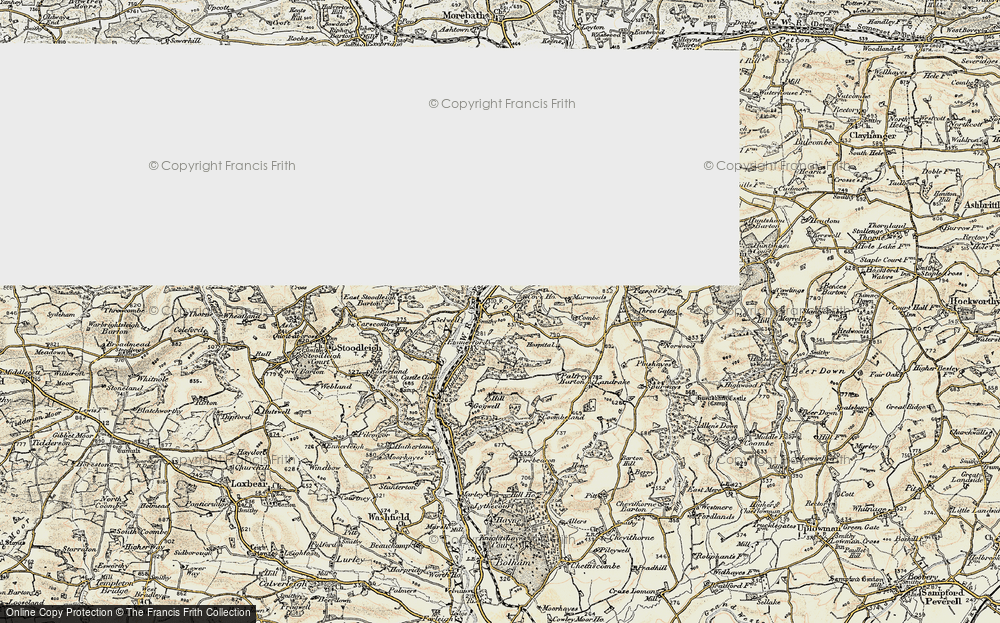 Old Map of Cove, 1898-1900 in 1898-1900