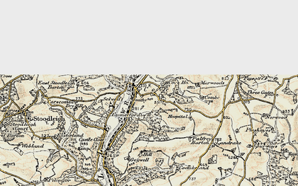 Old map of Cove in 1898-1900