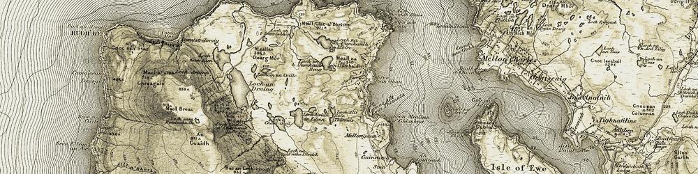 Old map of Allt a' Cham Lòin Mhòir in 1908-1910