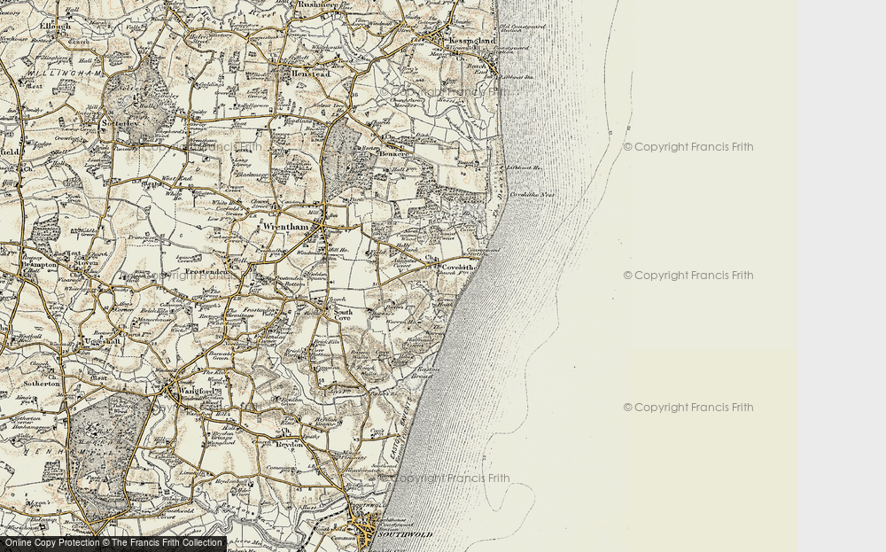 Old Map of Historic Map covering Ausgates in 1901-1902