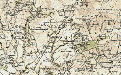 Old map of Wilsons in 1903-1904