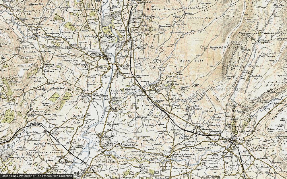 Old Map of Cowan Bridge, 1903-1904 in 1903-1904