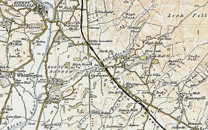 Old map of Cowan Bridge in 1903-1904