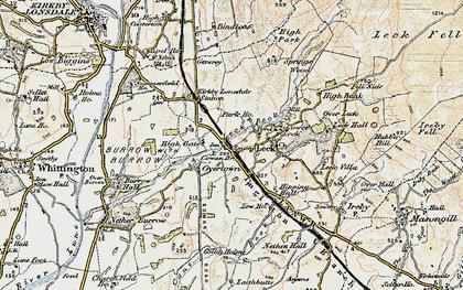 Old map of Cowan Bridge in 1903-1904