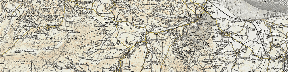 Old map of Whits Wood in 1898-1900
