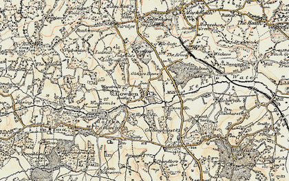 Old map of Cowden in 1898-1902