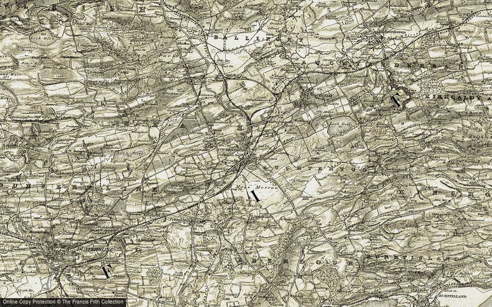 Old Map of Historic Map covering Leuchatsbeath in 1903-1906
