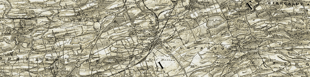 Old map of Cowdenbeath in 1903-1906