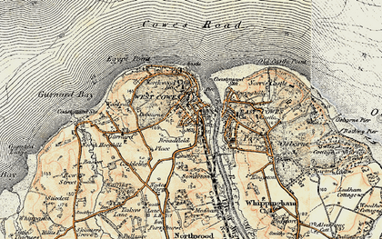 Old map of Cowes in 1897-1899