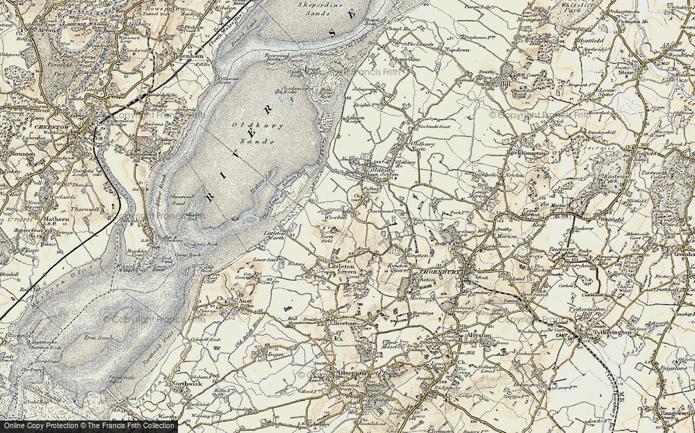Old Map of Historic Map covering Titters Hill in 1899