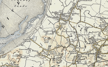 Old map of Titters Hill in 1899