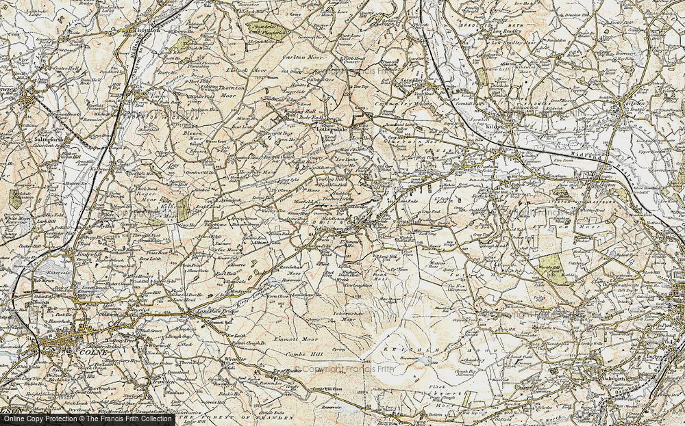 Old Map of Cowling, 1903-1904 in 1903-1904