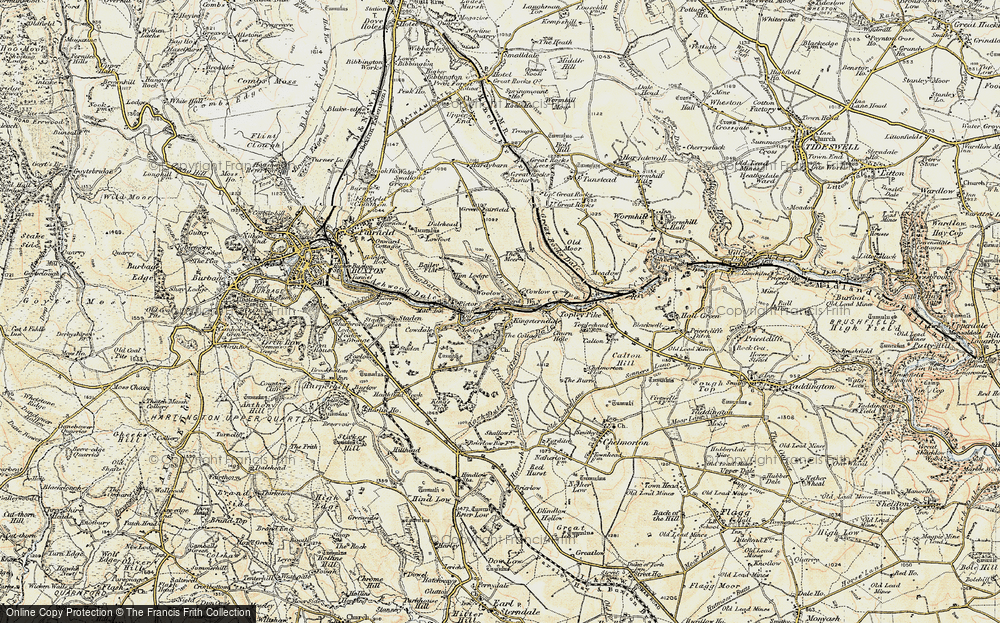 Old Map of Historic Map covering Back Dale in 1902-1903