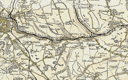 Old map of Woolow in 1902-1903