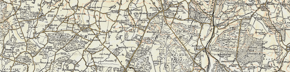 Old map of Cowplain in 1897-1899