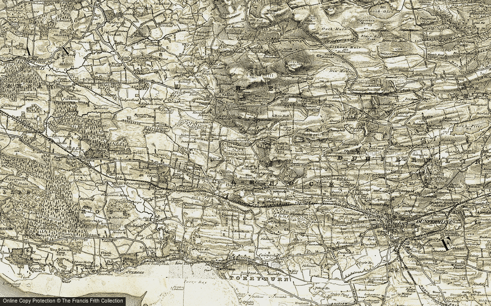 Old Map of Historic Map covering Bandrum in 1904-1906