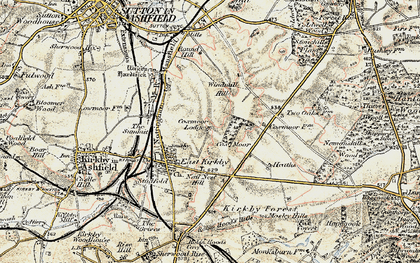 Old map of Windmill Hill in 1902-1903