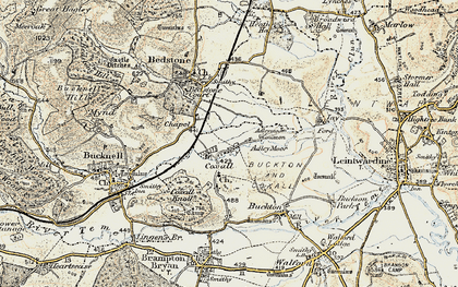 Old map of Adley Moor in 1901-1903