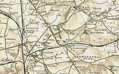 Old map of Coxhoe in 1901-1904