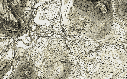 Old map of Whitewell in 1908