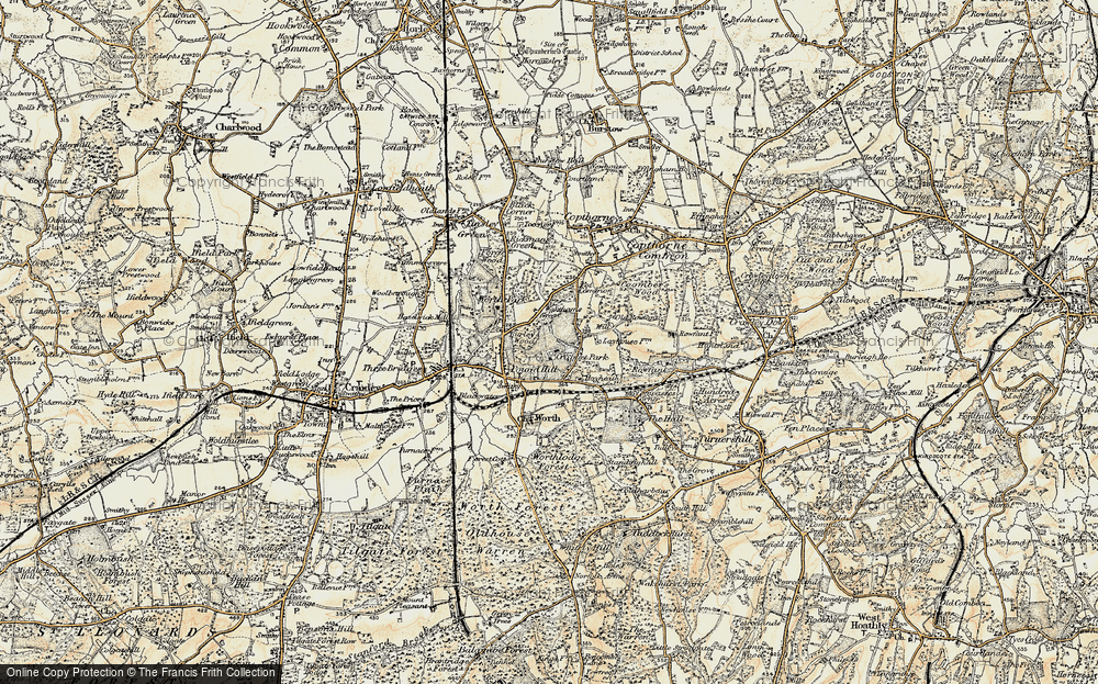 Old Map of Historic Map covering Ley House in 1898-1902