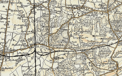 Old map of Ley House in 1898-1902