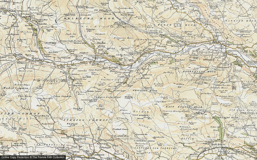 Old Map of Historic Map covering Aberdene Tarn in 1903-1904