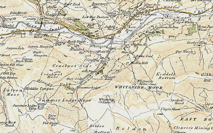 Old map of Aberdene Tarn in 1903-1904