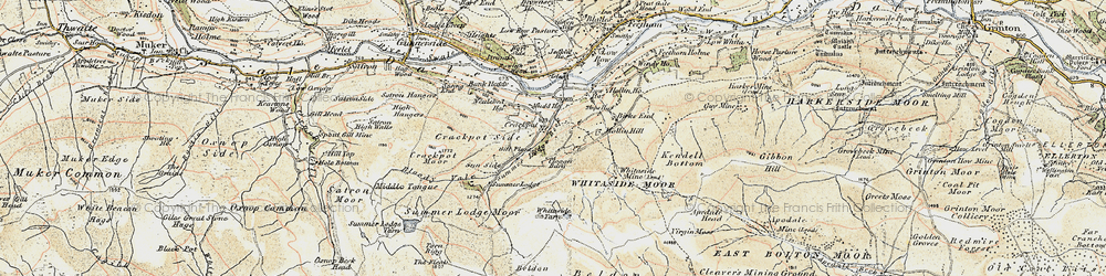 Old map of Whitaside Moor in 1903-1904
