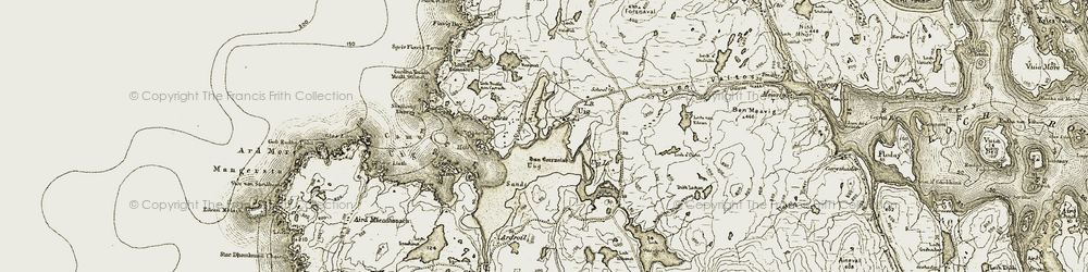 Old map of Tolm in 1911