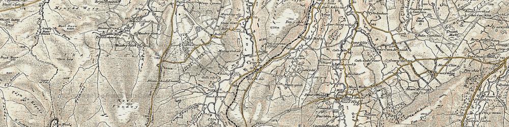 Old map of Fforest Fach in 1900-1901