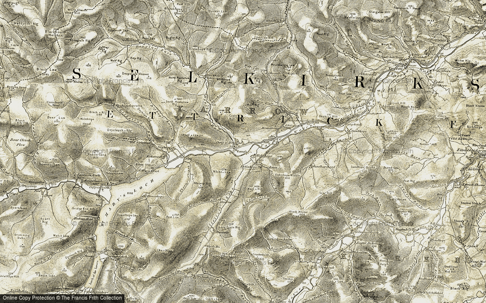 Old Map of Historic Map covering Altrieve in 1904