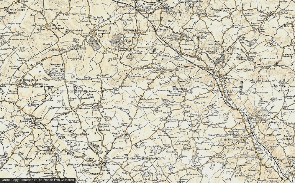 Old Map of Historic Map covering Le Hurst in 1898-1901