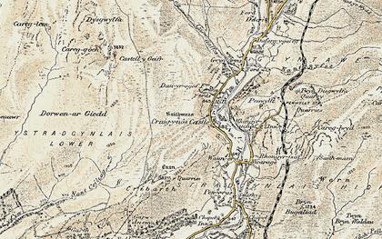 Old map of Craig-y-nos in 1900-1901