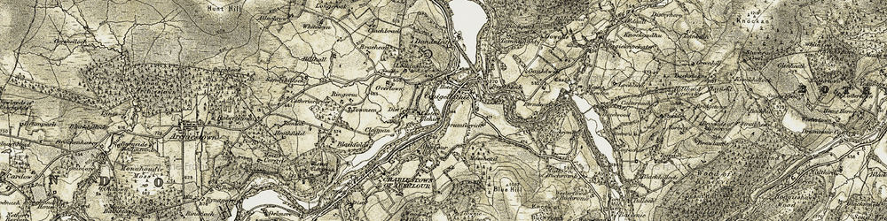 Old map of Whitehillock in 1908-1911