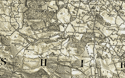 Old map of Avenuehead in 1904-1907