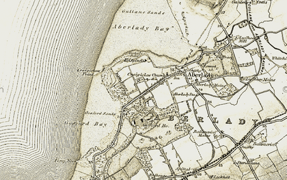 Old map of Aberlady Point in 1903-1906