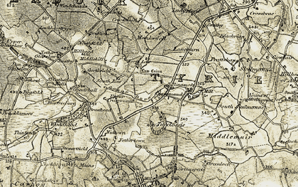 Old map of Langleys in 1909-1910