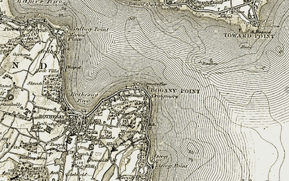 Old map of Craigmore in 1906