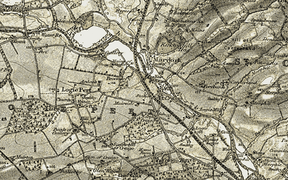 Old map of Balmanno Ho in 1907-1908
