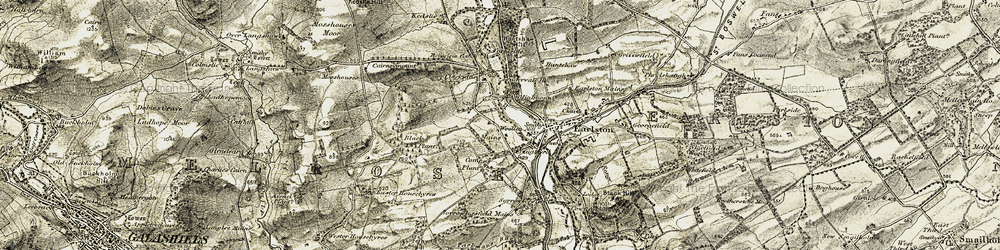 Old map of Leadervale Ho in 1901-1904