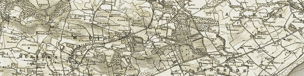 Old map of Law, The in 1907-1908