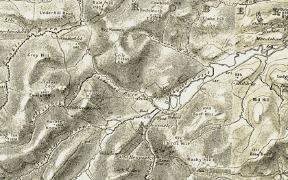 Old map of Aithouse Burn in 1901-1904
