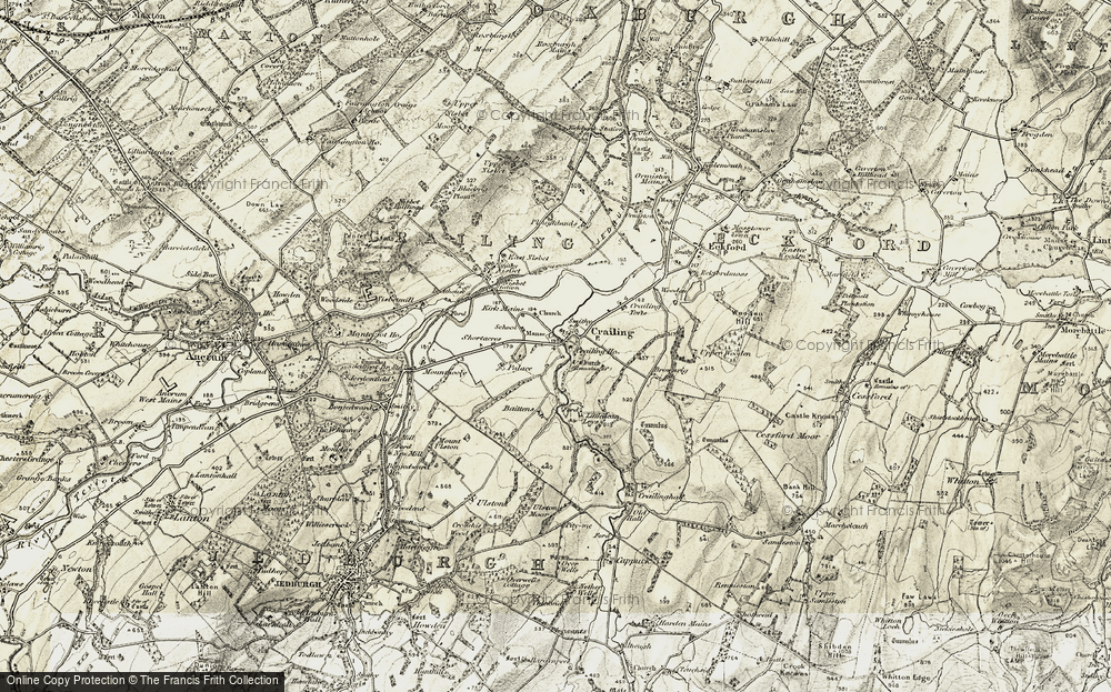 Old Map of Historic Map covering Baittens in 1901-1904