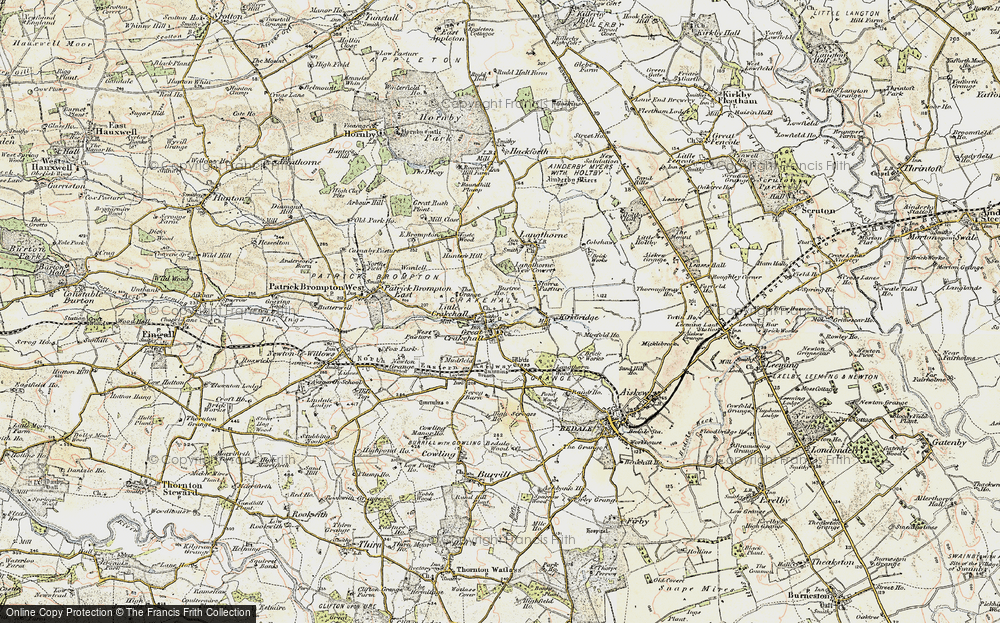 Old Map of Crakehall, 1904 in 1904