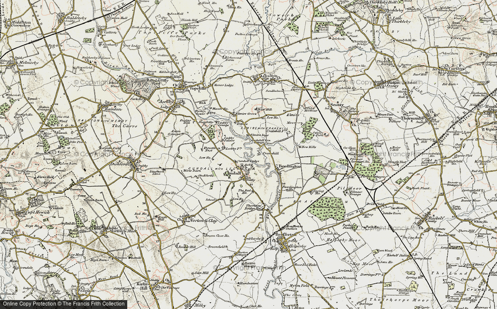 Old Map of Historic Map covering Leckby Grange in 1903-1904
