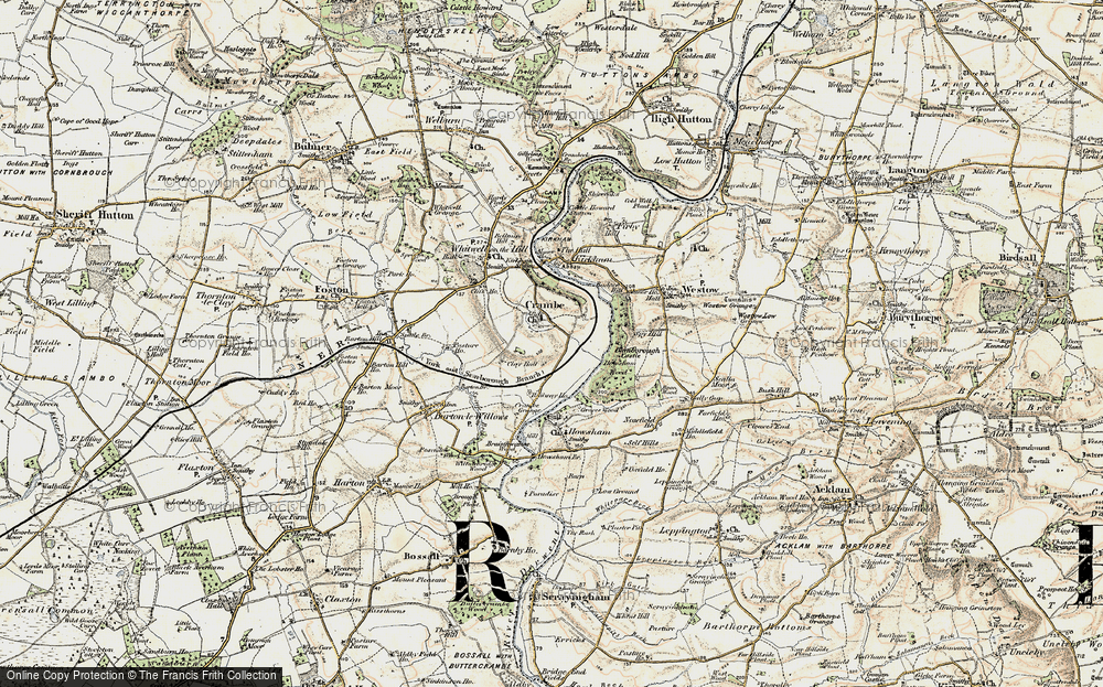 Old Map of Crambe, 1903-1904 in 1903-1904