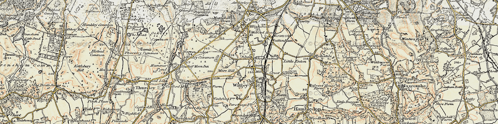 Old map of Witley Common in 1897-1909