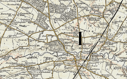 Old map of Cranage in 1902-1903
