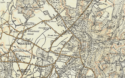 Old map of Winkfield Lodge in 1897-1909